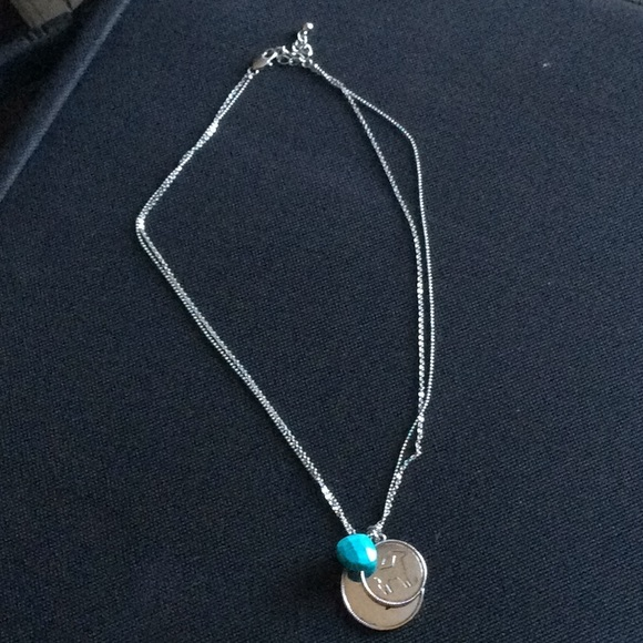 Charming Charlie Jewelry Astrology Necklace With Turquoise Stone
